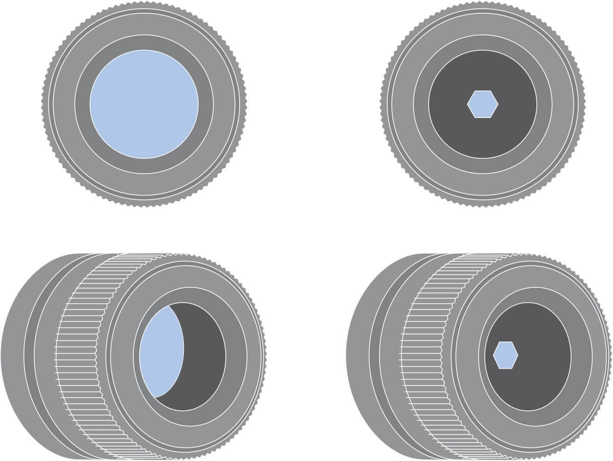 Lenses with different F/#
