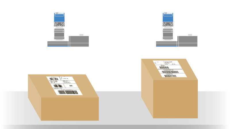 Barcode reader: the AO module allows the system to stay in focus and read 
