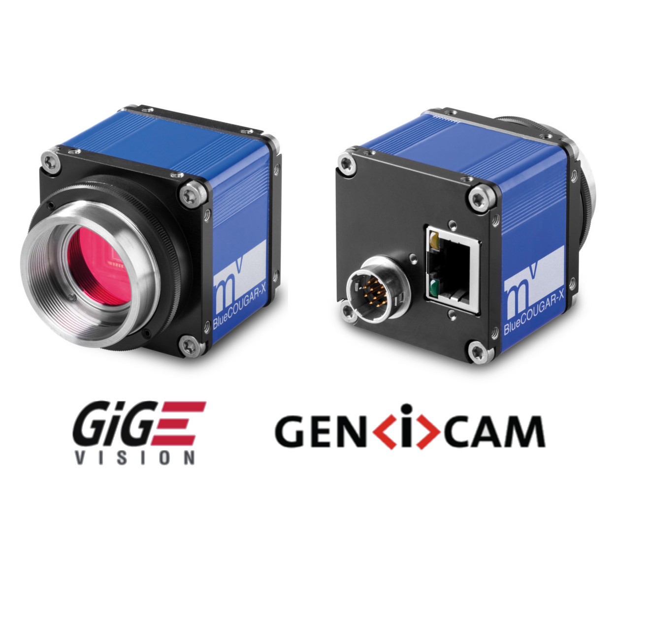 "CMOS camera GIGE, 2064 x 1544 color, 1/1.8"", 37 Hz, IR cut, C-mount, I/O"