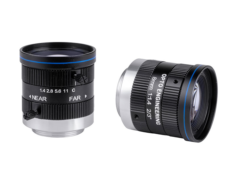 Fixed focal 2 Megapixel lens, focal length 8 mm, f# 1.4 - C, C-mount