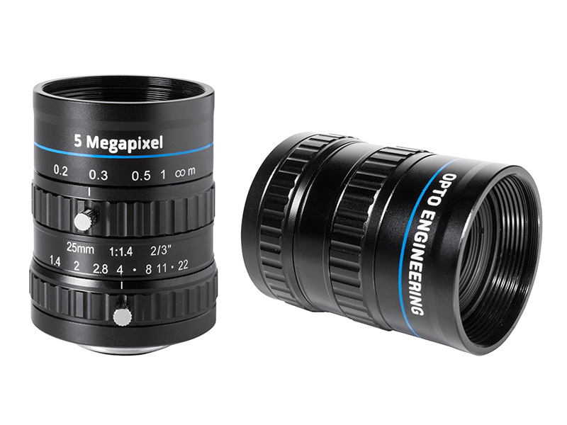 Fixed focal 5 Megapixel lens, focal length 25 mm, f# 1.4 - 22, C-mount