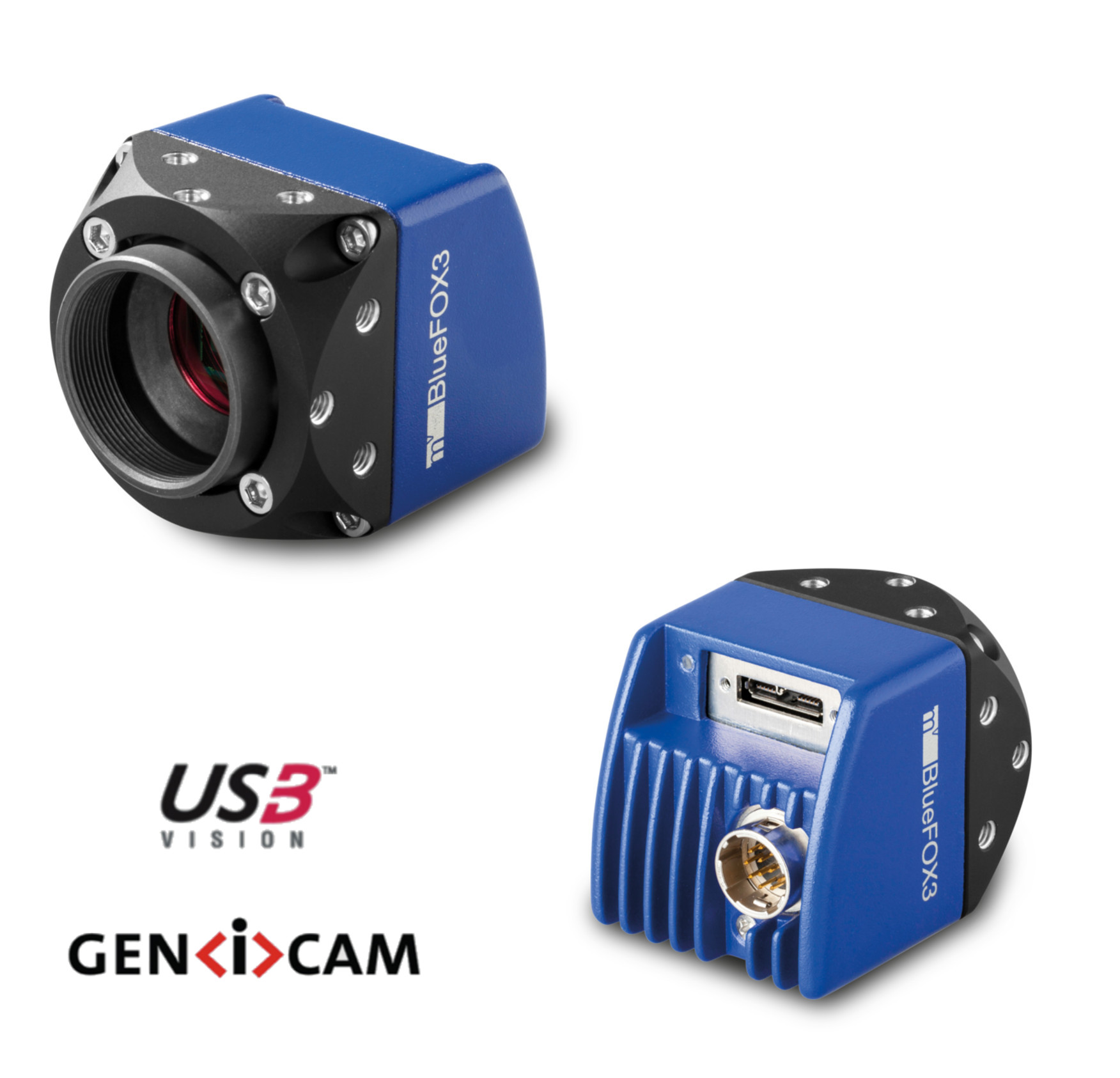"CMOS camera USB3, 2064 x 1544 colour, 1/1.8"", 55 Hz, IR cut, C-mount, with I/O"