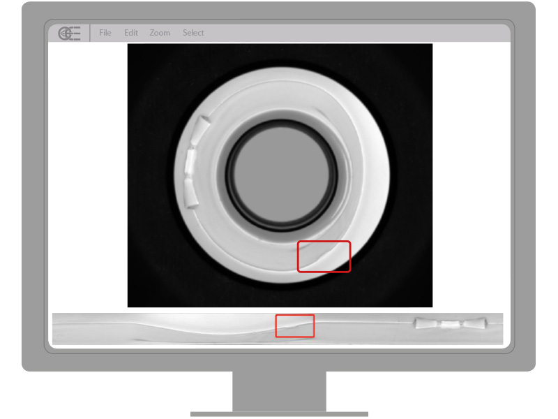 Toothpaste cap inspection oe imaging solution
