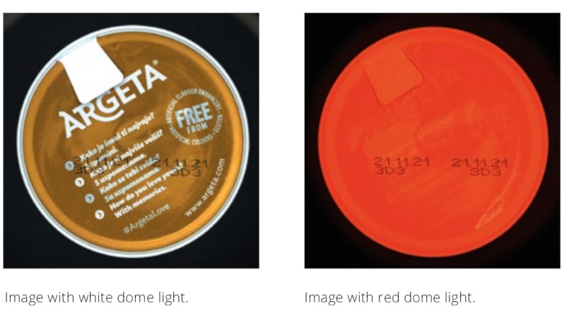 Image with white dome light vs Image with red dome light