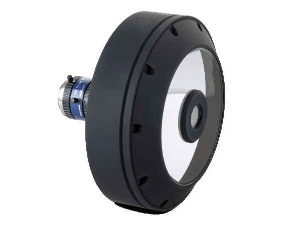 PCCD catadioptric lens for complete surface inspection