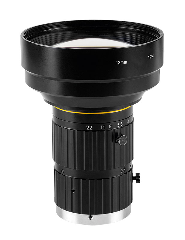 "5 MP and 12 MP C-mount lenses for up to 4/3"" detectors"