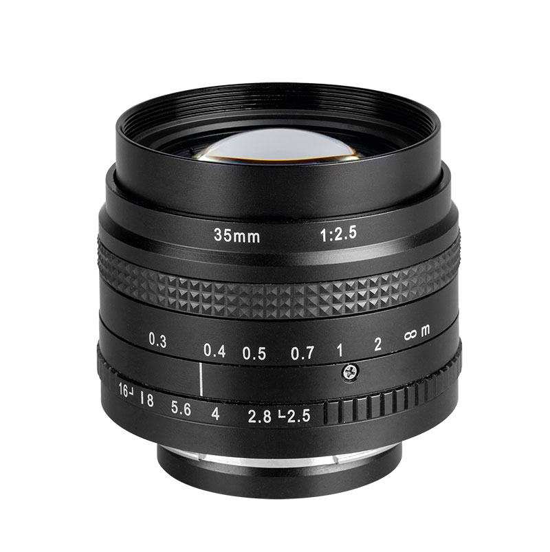 Fixed focal length lenses for APS-H, Full Frame and up to 43 mm sensors