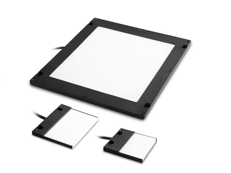 Continuous flat side-emitting LED backlights