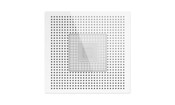 Multi-zone calibration dot grid