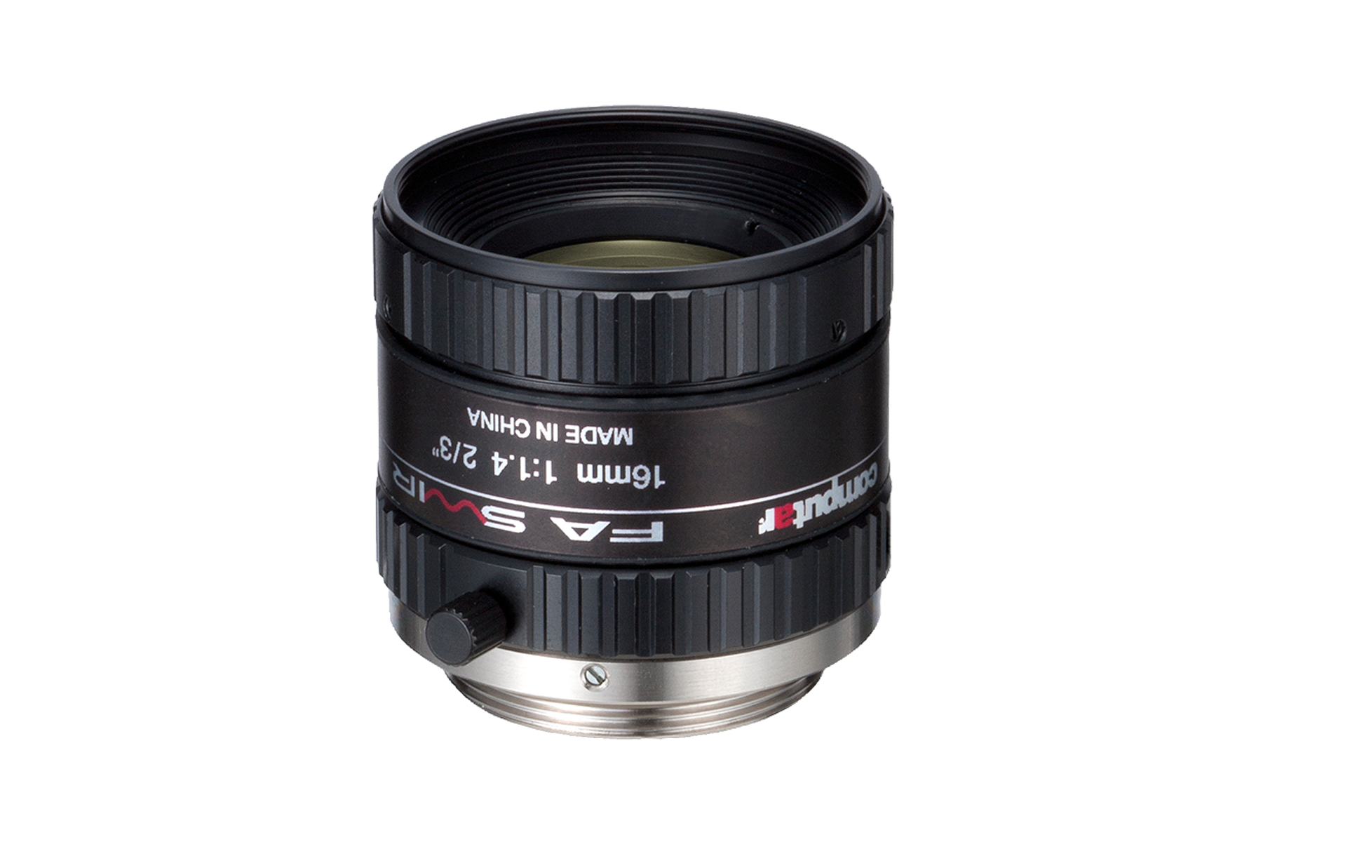 SWIR (800-1700 nm) C-mount lens, 16 mm, F1.4, for 2/3