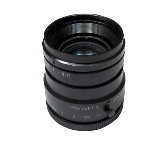 5-megapixel lens, focal length 12 mm, f# 1.8-16, C-mount