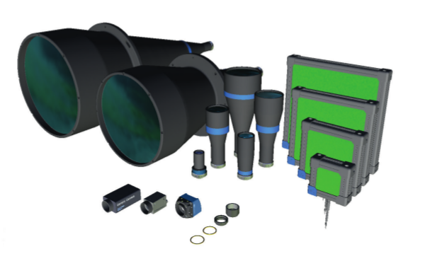 A wide range of lenses, lights and cameras is accessible for system planning