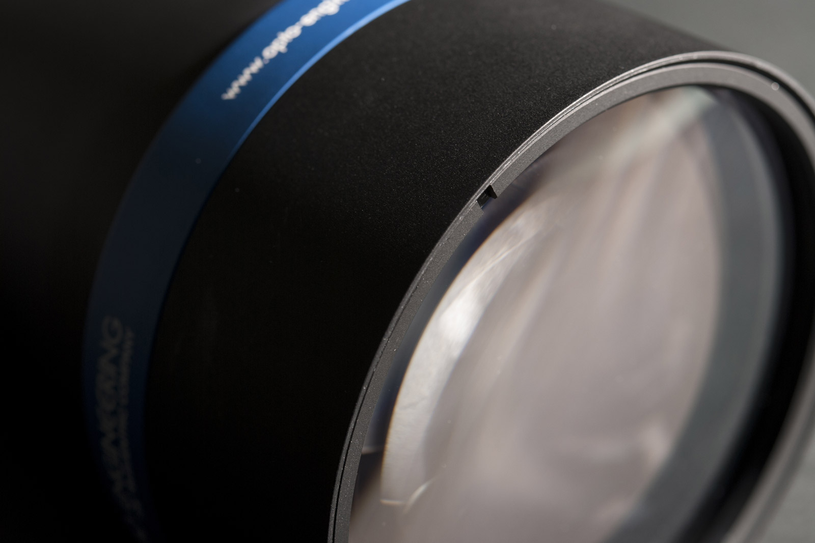 Closeup view of a TC12K telecentric lens