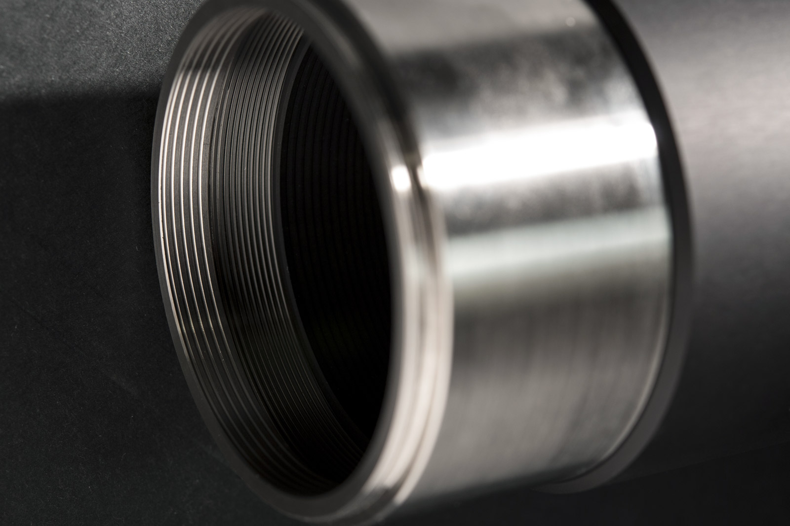 Detail of a TC12K telecentric lens mount interface