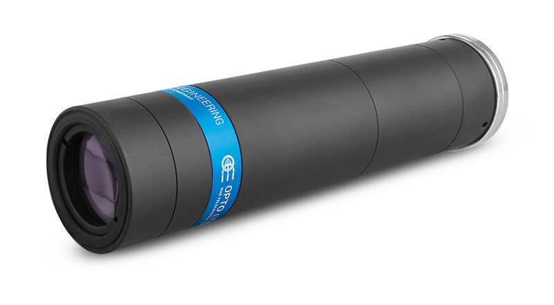 TCLWD250-Long working distance telecentric lens for 2/3″ detectors, WD 132.3 mm, magnification 2.50x, C-mount