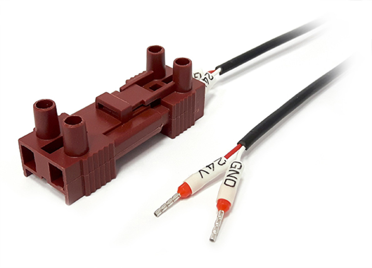 Power cable, side 1 SM 2 PIN male connector side, 2 terminal blocks connector - 3 m