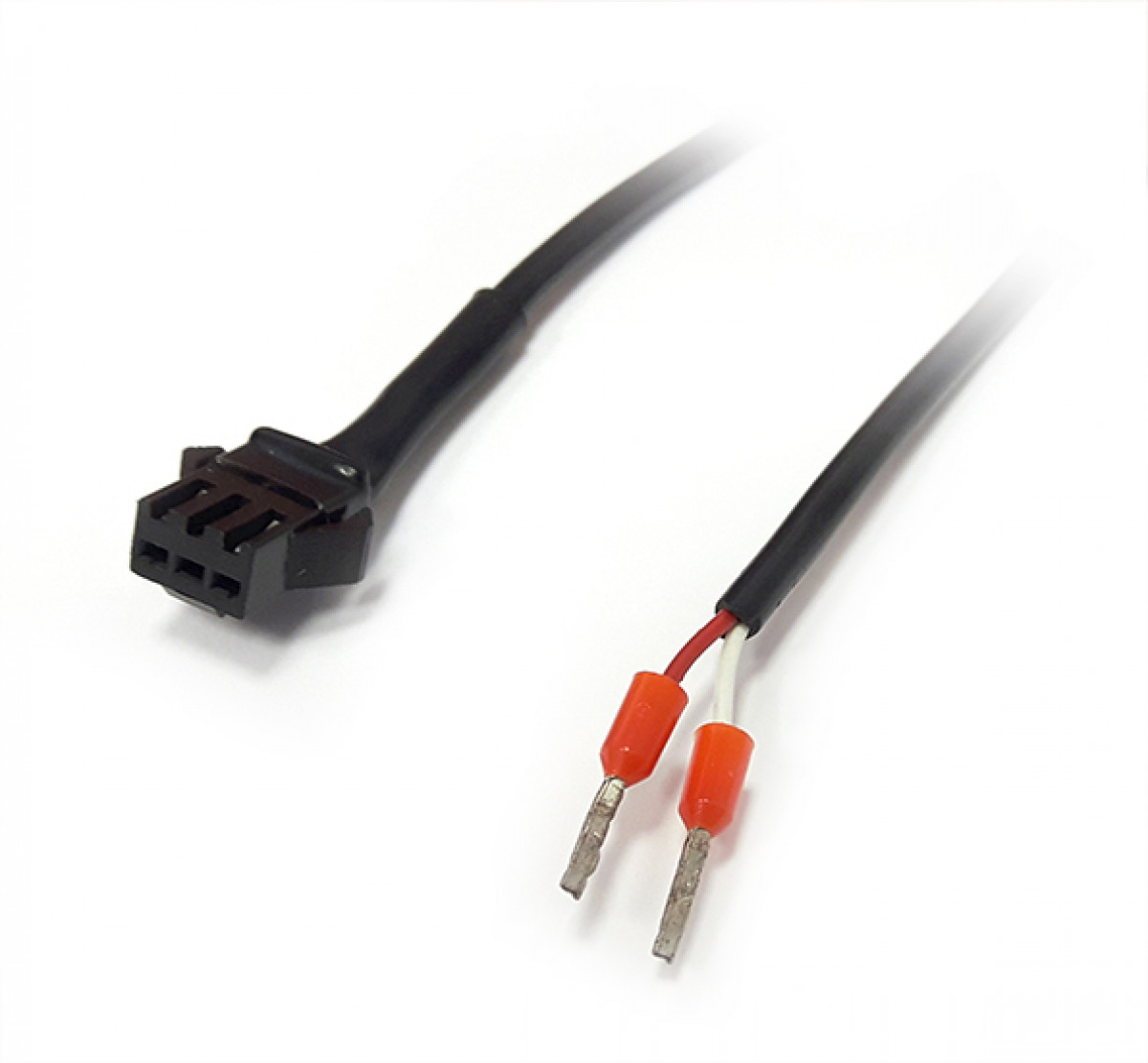 Power cable, side 1 SM 2 PIN male connector side 2 flying leads - 3 m