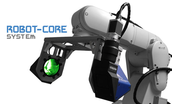 CORE optical measurement probe installed on a robot